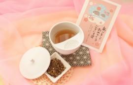 年賀状と生姜ほうじ玄米茶