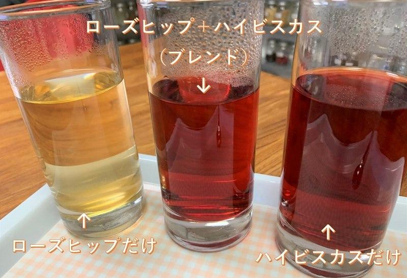 3種類の色の違い